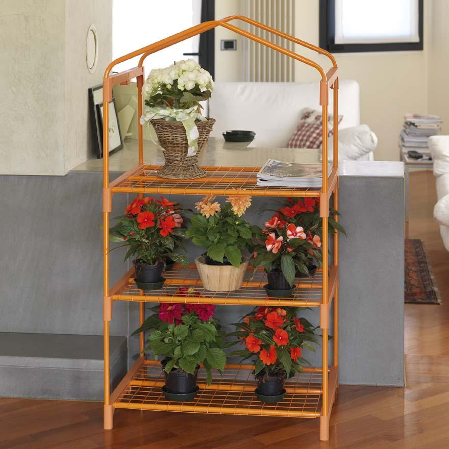 Serre azalea color e orange 3 tag res serres pour terrasse verdemax code - Etagere pour terrasse ...