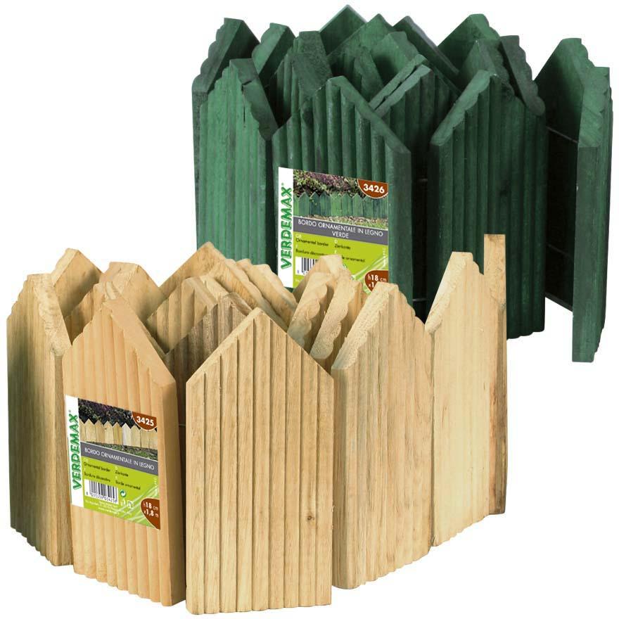 Bordo ornamentale in legno bordure verdemax codice 3425 - Bordure giardino fai da te ...