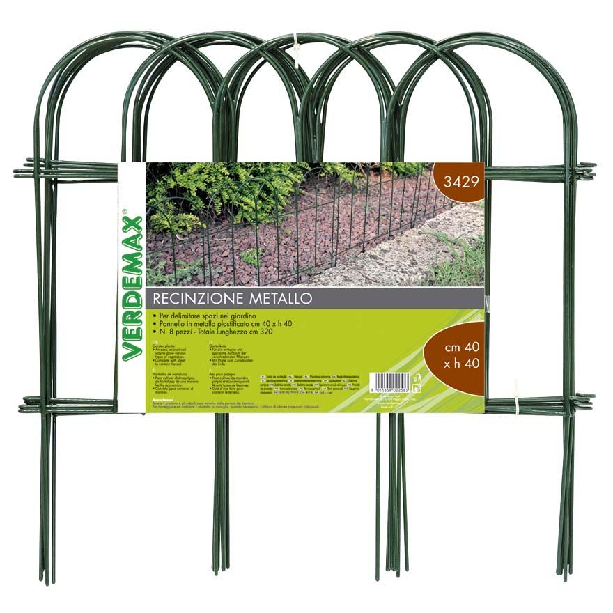Bordure Per Aiuole In Plastica Prezzi.Recinzione In Metallo Ad Arco Per Aiuole Bordure Verdemax Codice