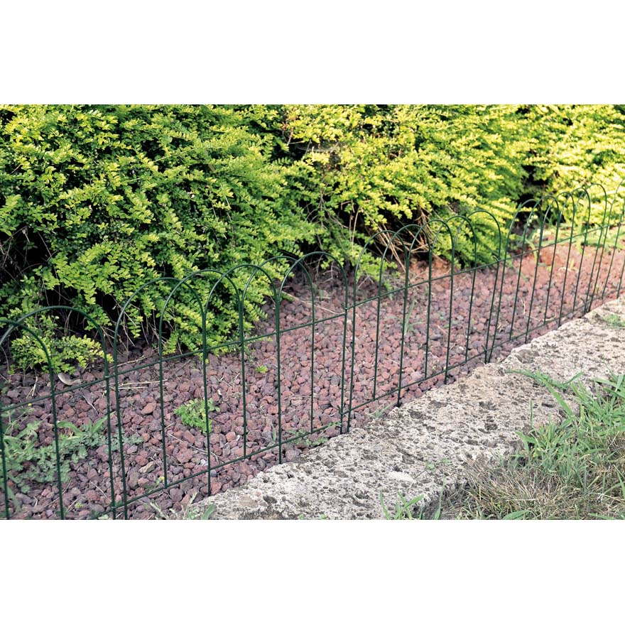 recinzione in metallo ad arco per aiuole bordure