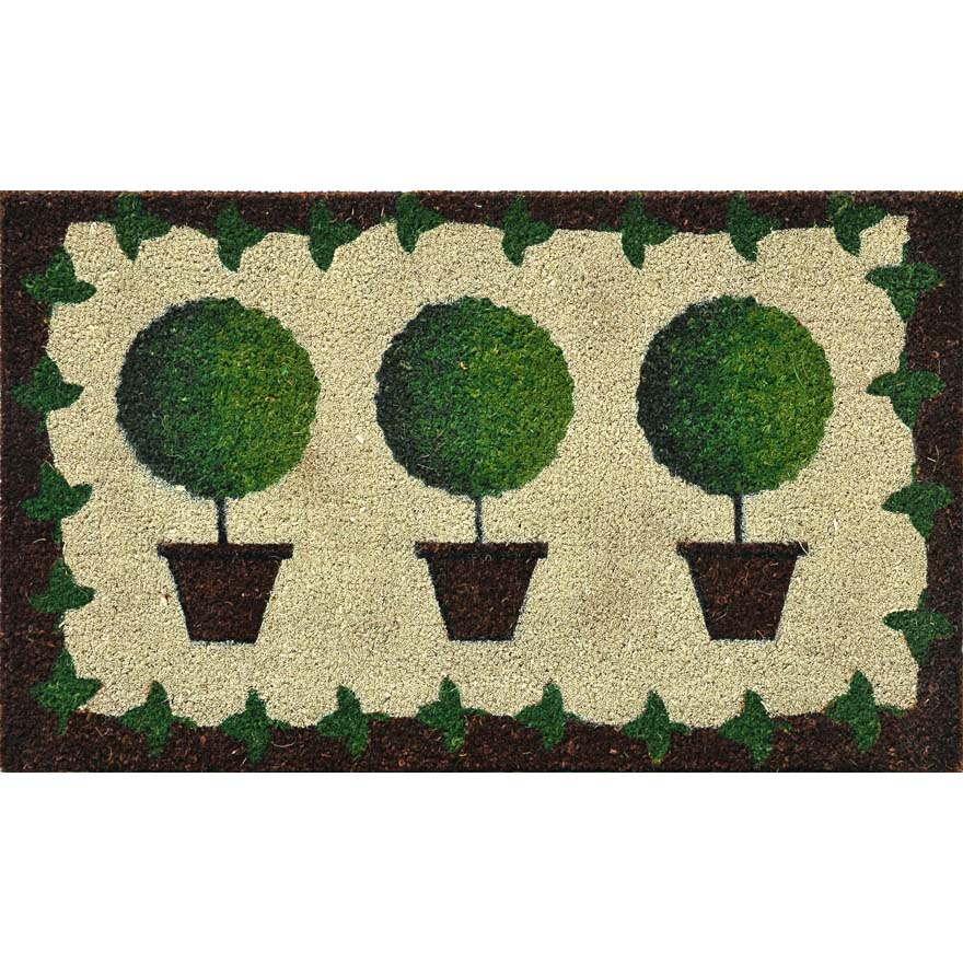 paillasson rectangulaire avec plantes en pot paillassons verdemax code 5463. Black Bedroom Furniture Sets. Home Design Ideas
