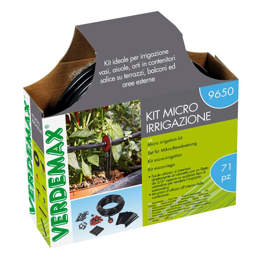 Kit micro irrigazione - Micro irrigazione Verdemax - Codice: 9650