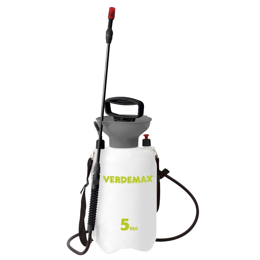Professional pressure sprayer 5 liters with fiberglass wand, adjustable strap and safety valve